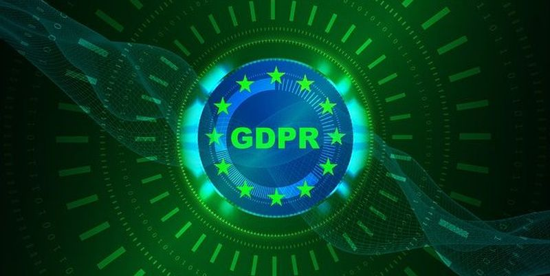 Green sign that says GDPR